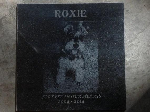 laser engraved granite memorial tile photo engraving etsy