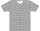 Sayagata #2 - White Unisex AOP T-shirt