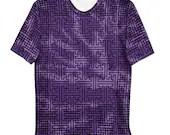 Sayagata #2; Purple Tie-dye - Unisex all over print T-shirt