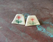 Ceramic earrings - handma...