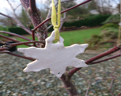 Shiny ceramic snowflake- ...