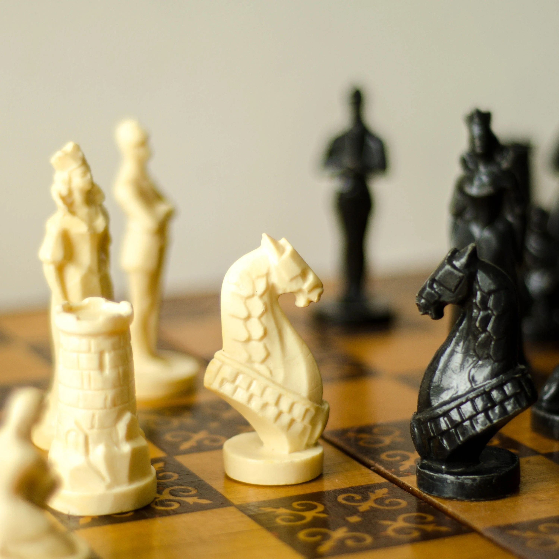 vintage soviet chess set