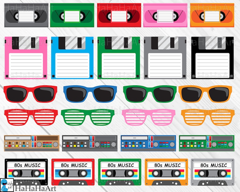 Download I Love The 80s v2 Clip art / Cutting Files svg eps dxf png ...