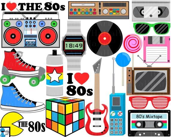 Download I Love The 80s v1 Digital Clipart Clip arte gráfica de uso ...