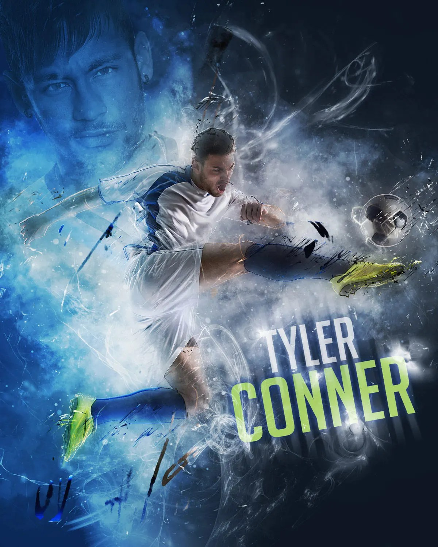 Soccer Collage : soccer, collage, Custom, Soccer, Poster, Collage, SPORT, Athlete