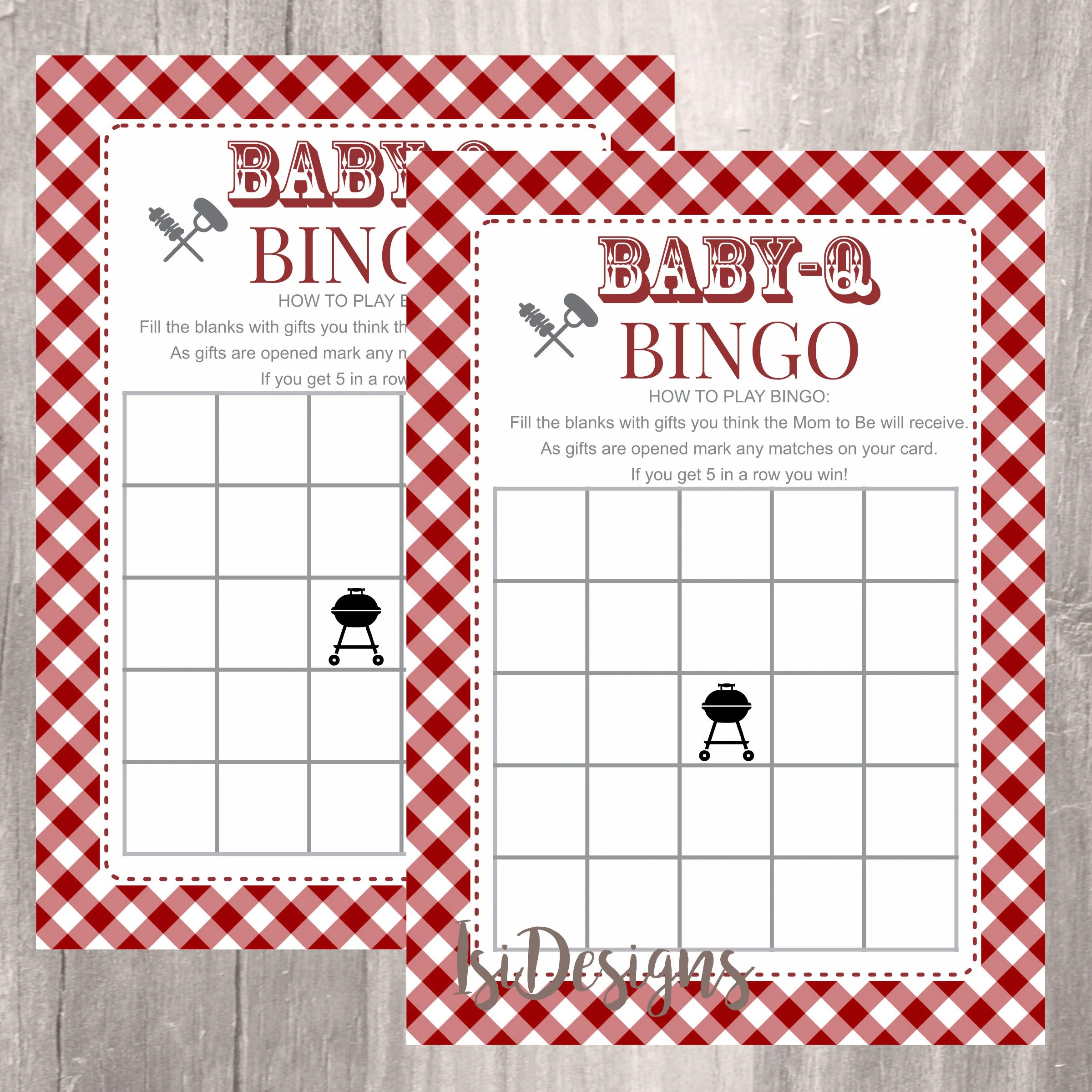 Baby Shower Bingo Printable Babyq Shower Bingo Cards