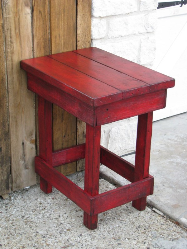Medium Red End Table Side Nightstand Colors