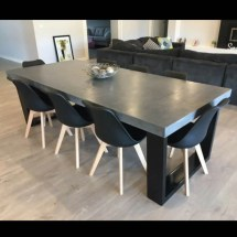 8 Seater 2.4m Dining Table Polished Concrete Patio