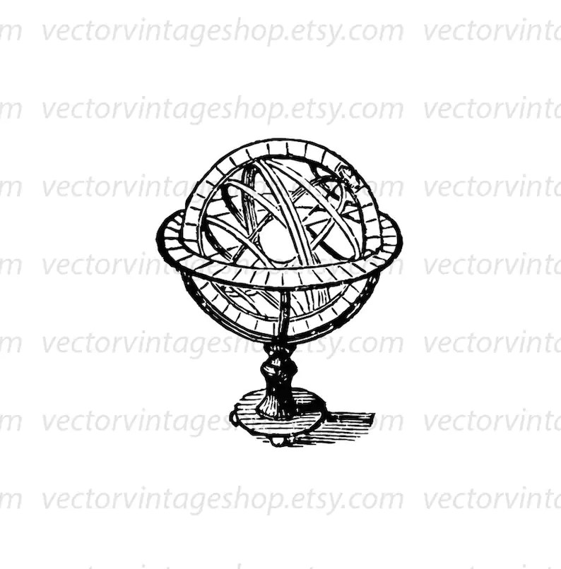 Astronomy Clipart Armillary Vector Graphic Sphere