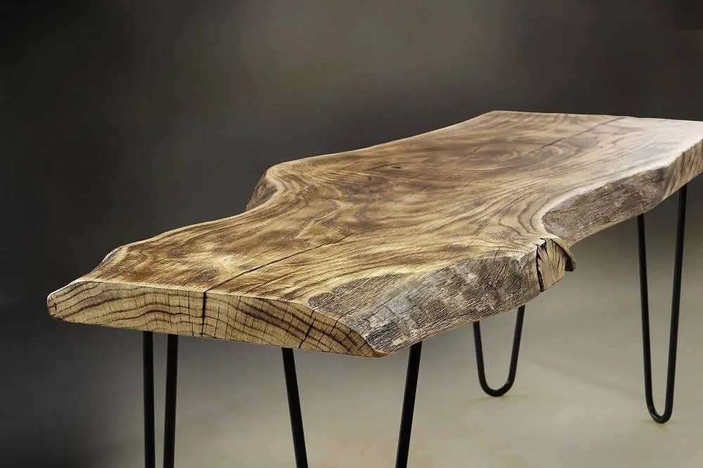 Shou Sugi Ban Coffee Table, Live Edge Coffee Table Uk