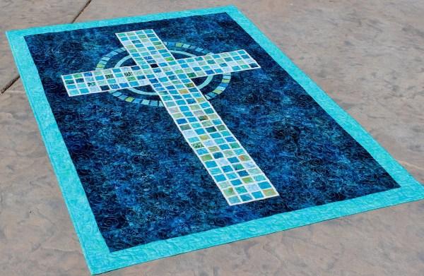 Mosaic Cross - Pdf Pattern Quilt Size 41 X 59