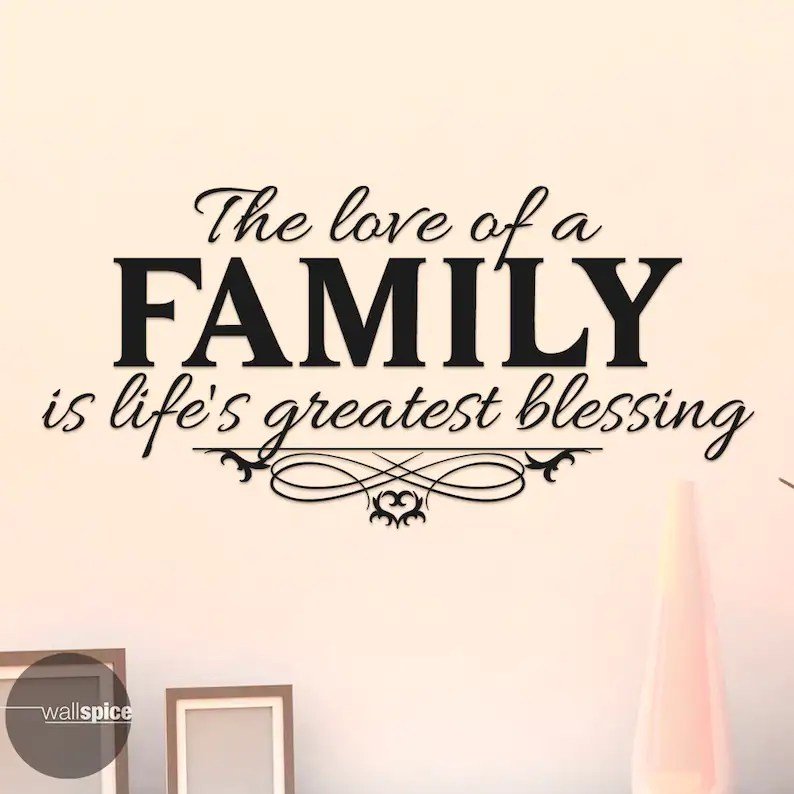 Download The Love Of A Family Is Life's Greatest Blessing Vinyl   Etsy