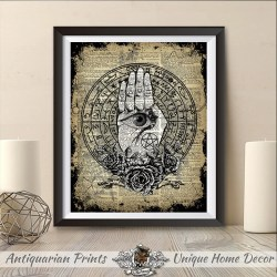 decor wiccan pagan witchcraft palm print occult