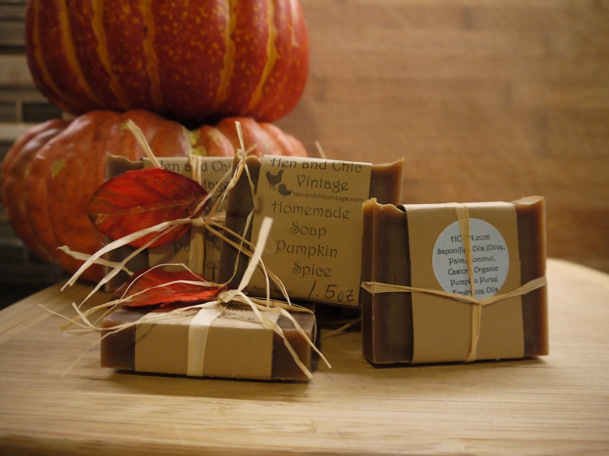 SALE!!!! Pumpkin Spice Soap-Handmade Soap No Artificial Colors, Dyes. Organic, Cold Process Soap. Organic Ingredients.