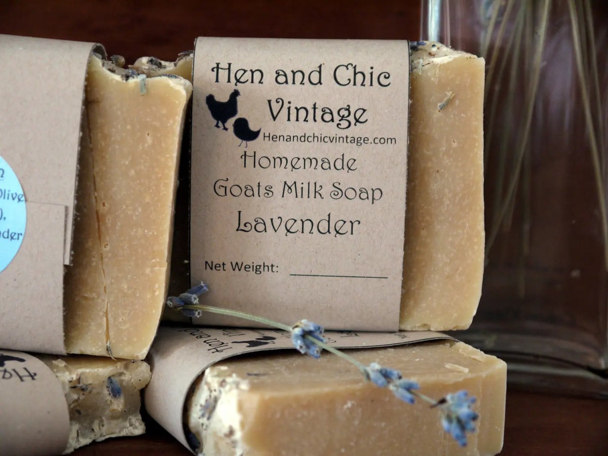 Handmade Lavender Goat's Milk Soap No Artificial Colors, Dyes. Backyard Garden Lavender Flowers, Cold Process Soap. Organic Ingredients