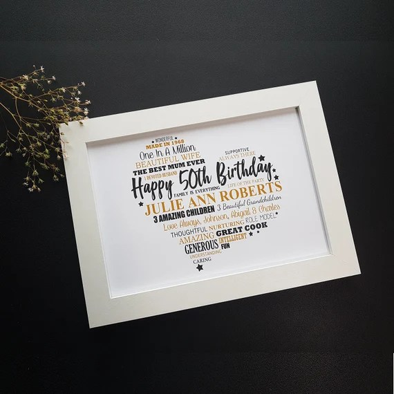 50th Personalised Print