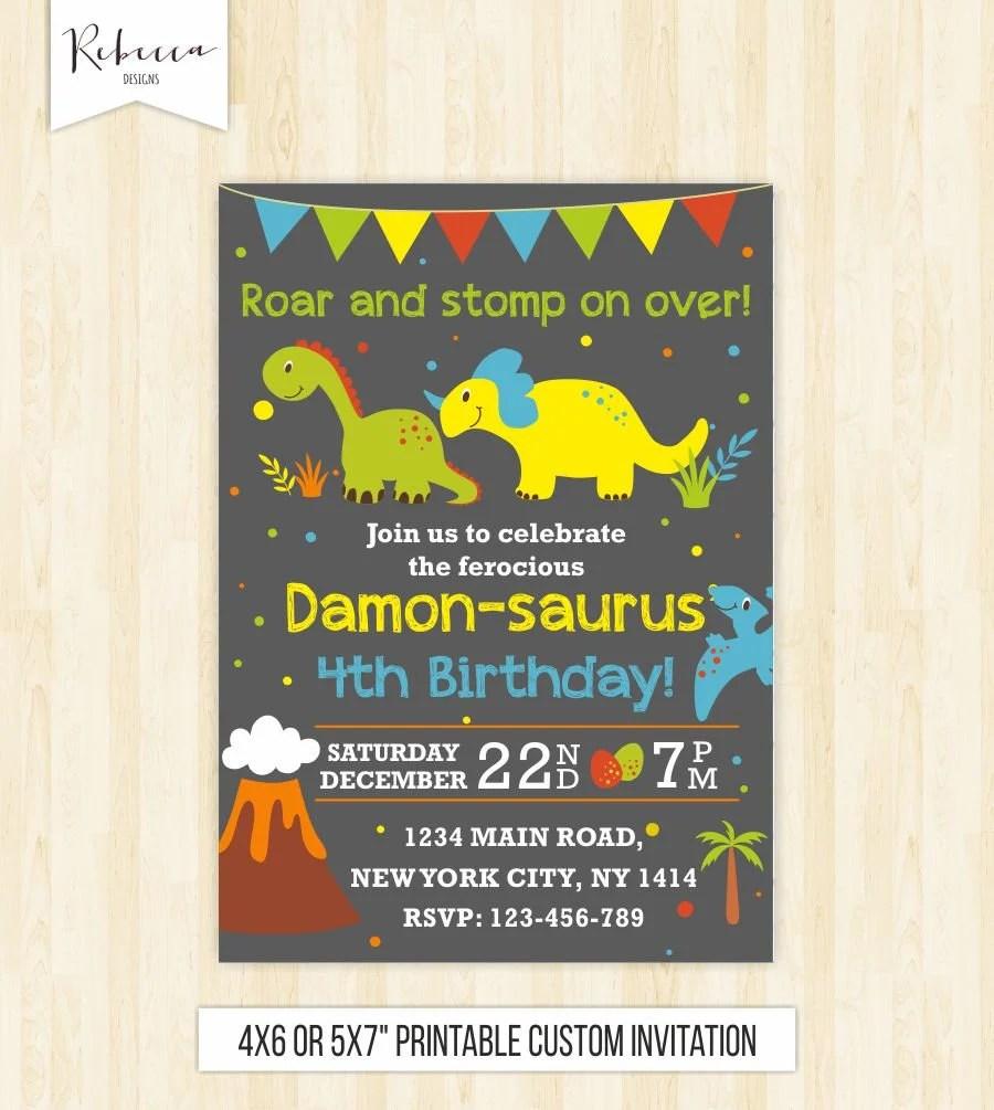 dinosaur invitation dinosaur birthday