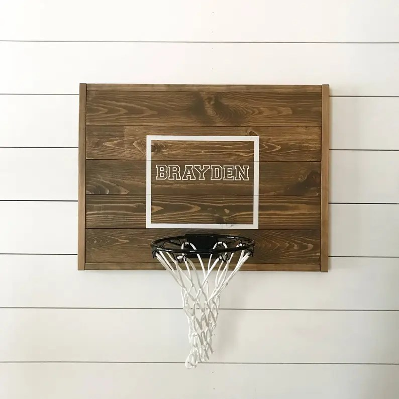 Rustic basketball goal personalized basketball goal image 0