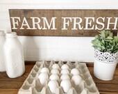 Farm Fresh Wood Engraved ...