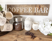 Coffee Bar Wood Engraved ...