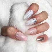 press nails light pink marble