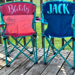 Kids Folding Camp Chair Black Dining Chairs Uk Camping Etsy Personalized Customized