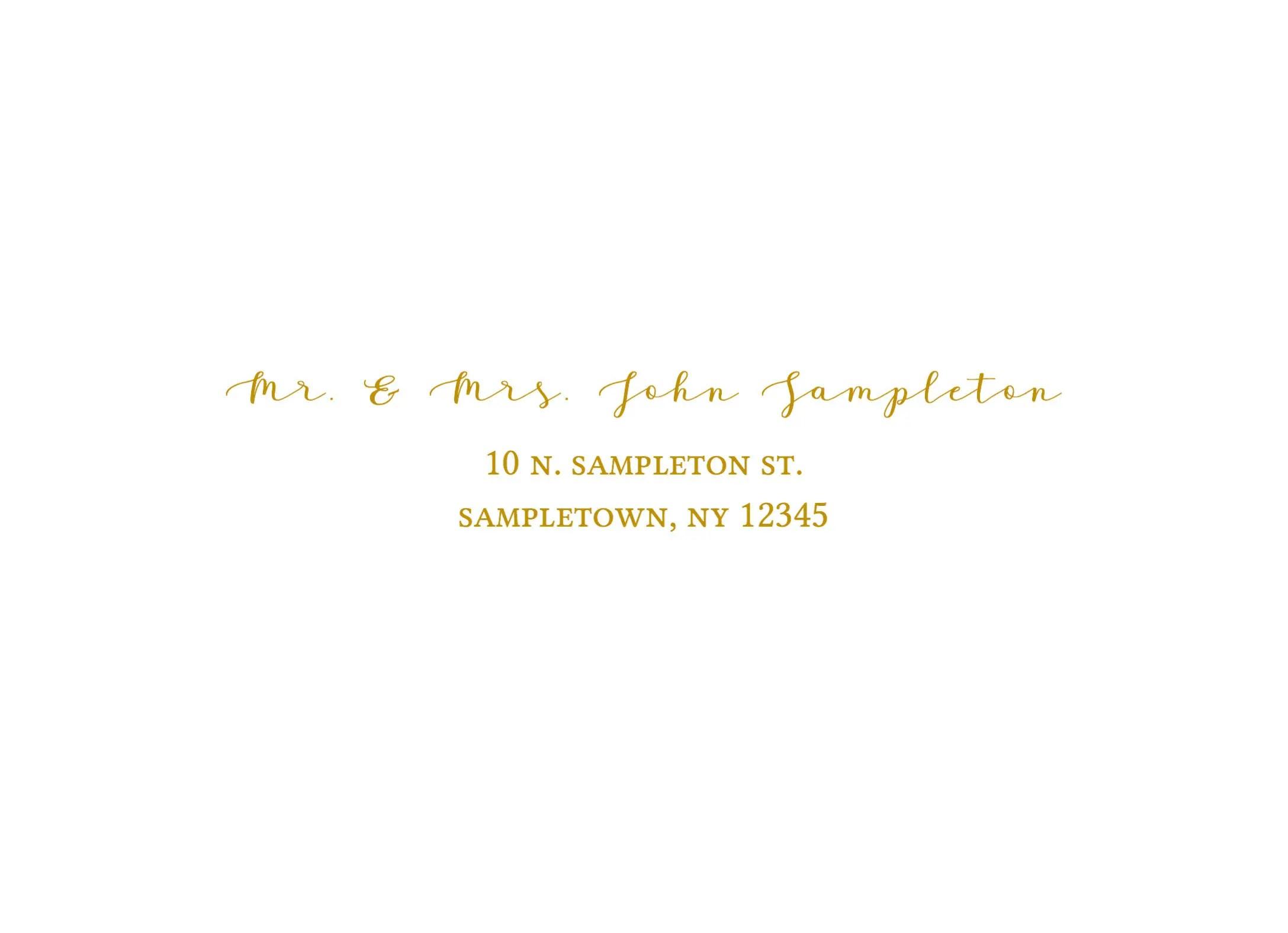 A7 Address Template Envelope Area
