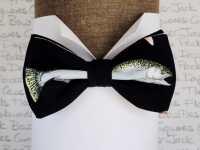 Fish Print Bow Tie, Bow Ties For Men, Sardine Bow Tie ...