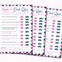 Printable Baby Shower Game Mom Or Dad Trivia Navy Blue And