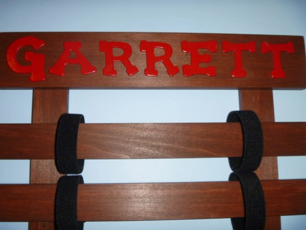 Personalized Karate Belt Display Rack