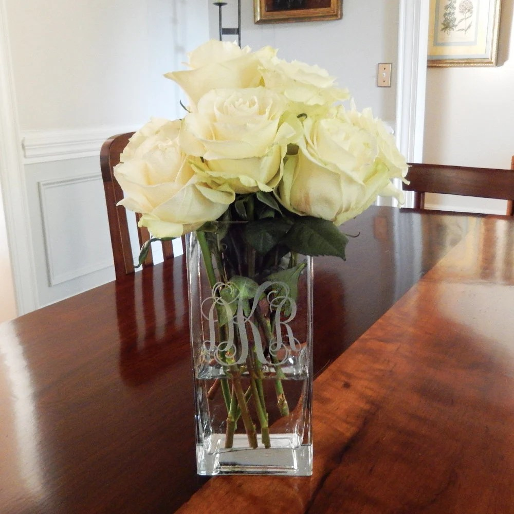 personalized vase etsy