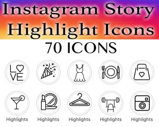 highlight instagram icons story covers background food beauty highlights icon travel etsy instant makeup quotes sold