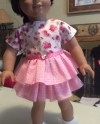 Hearts And Roses Valentine S Day Dress For American Girl Etsy