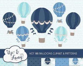 vintage hot air balloon clipart