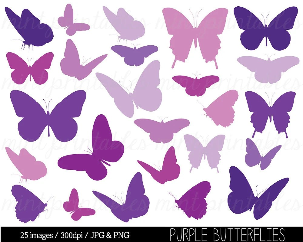 medium resolution of butterfly clipart purple butterfly clip art butterfly silhouettes clipart purple baby shower commercial personal buy 2 get 1 free