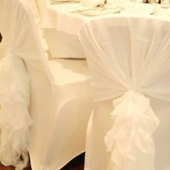 Wedding Chair Sash Desk And Set Argos Etsy Ruffled Chiffon Hood Flowy Ruffle Chiavari
