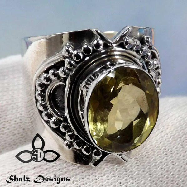 Citrine Ring Gemstone Designer Women