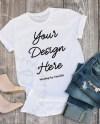 Bella Canvas Shirt Mockup White Bella Canvas 3001 Outfit Scene Etsy