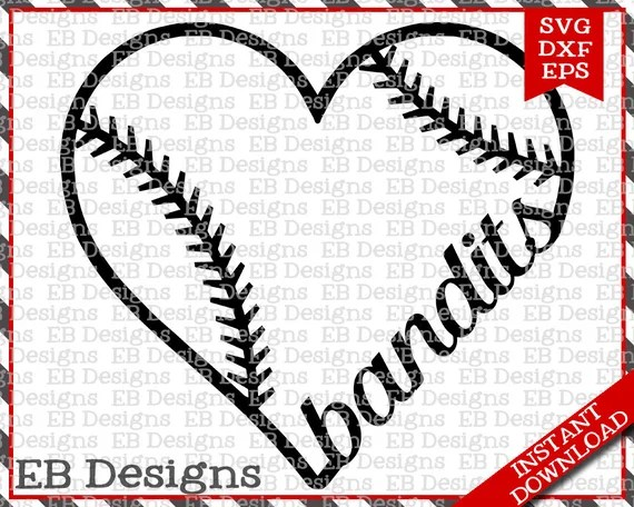 Download Bandits Baseball Love SVG DXF EPS Cutting Machine Files | Etsy