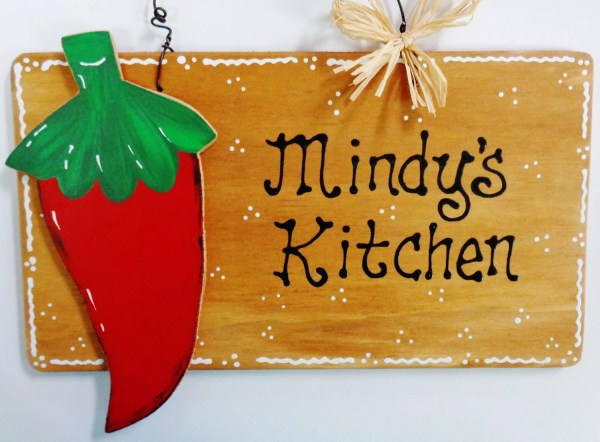 Red Chili Pepper Personalized Kitchen Sign Family Decor