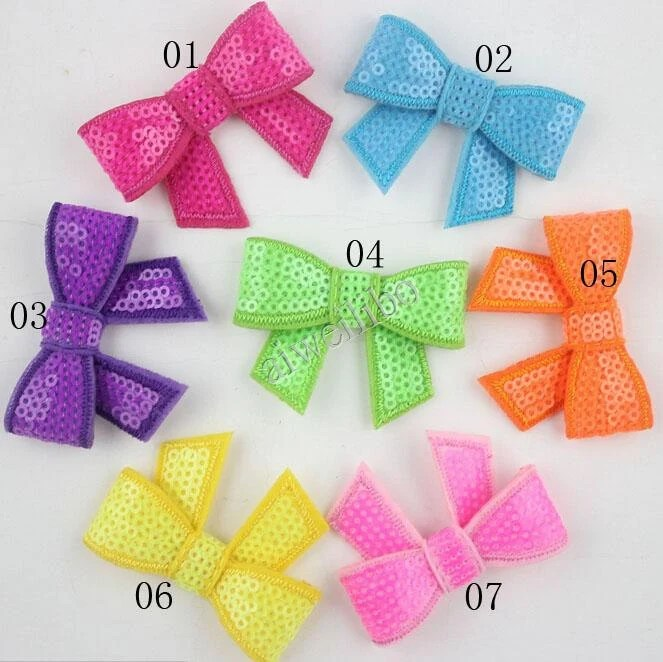 sequin bow large fabric bows