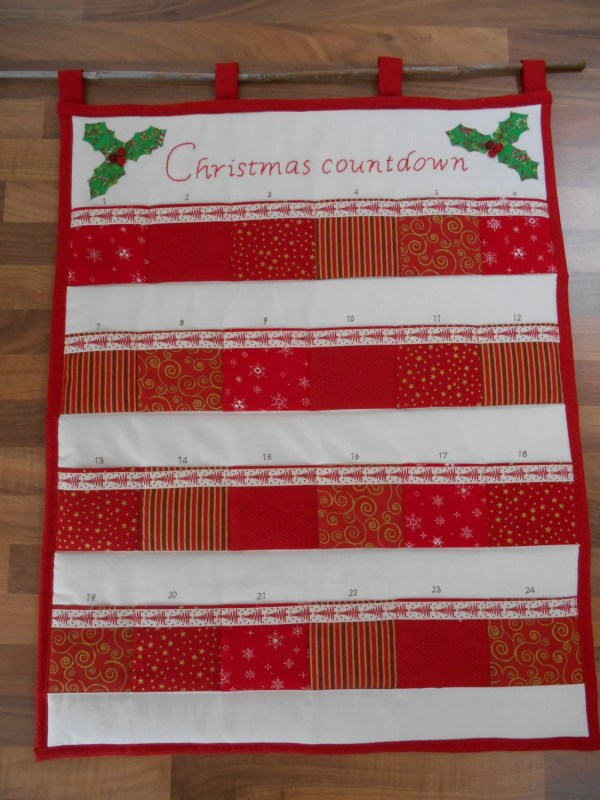 Christmas Advent Calendar Heirloom Countdown Quilted Decor