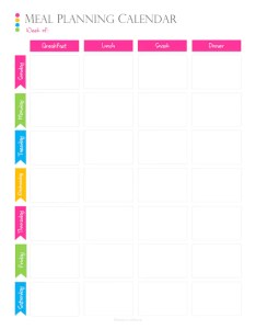 Image also weekly meal planning calendar pdf planner for or menu etsy rh