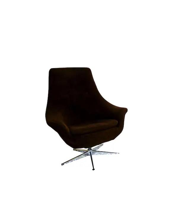 modern egg chair orange resin adirondack mid century 1960 s brown swivel chrome etsy image 0