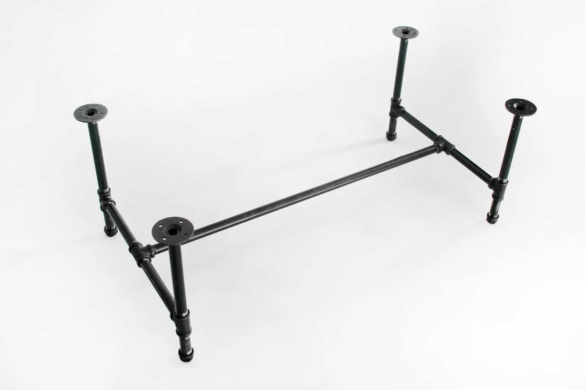 industrial coffee table base 1 black pipe table legs diy stand customizable furniture made to order metal pipe frame