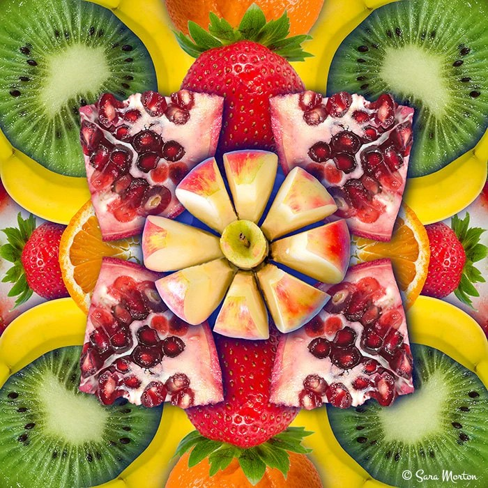 fruit decor for kitchen triple pendant lights art print collage of etsy image 0