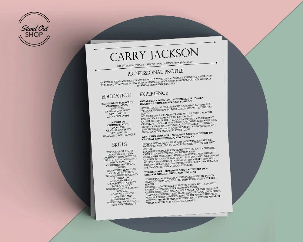 Currency Strategist Cover Letter Carry Jackson Modern 2 Page Fancy Resume Cover Letter Template For Microsoft Word