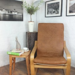 Ikea Poang Chair Covers Uk Ivory Leather Office Cover Etsy Slipcover In Stunning Vintage Honey Distressed Look