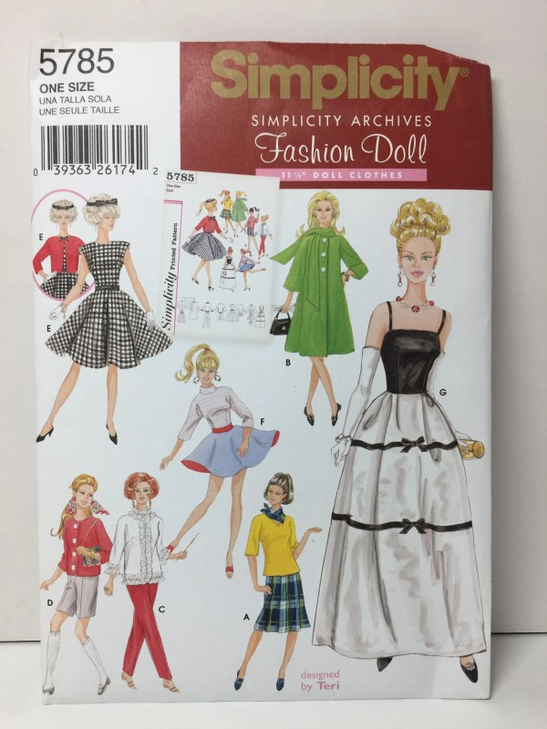 Simplicity 5785 Fashion Doll 11 1 2 Clothes Sewing