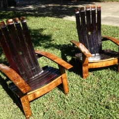 Barrel Stave Adirondack Chair Plans Fuzzy Feet Gliders Set Made From Reclaimed Oak Wine Etsy Image 0
